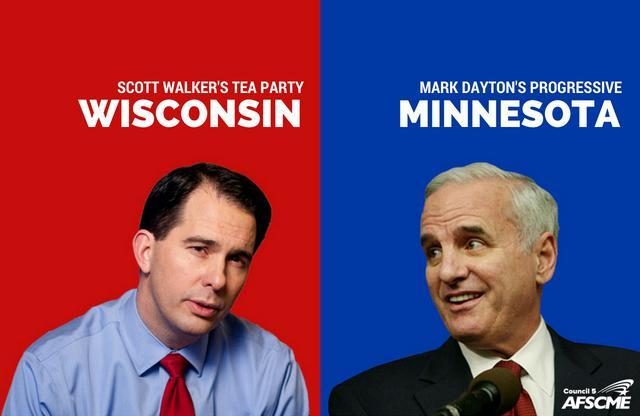 Mark Dayton v. Scott Walker economics 2018